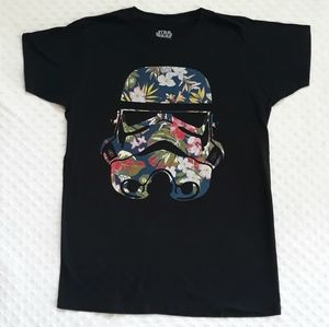 Star Wars floral print graphic tee t shirt Medium